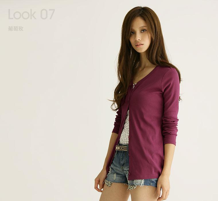 抗UV原色長版罩衫-女
