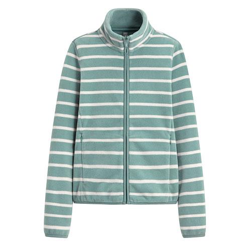Fleece條紋立領外套-女