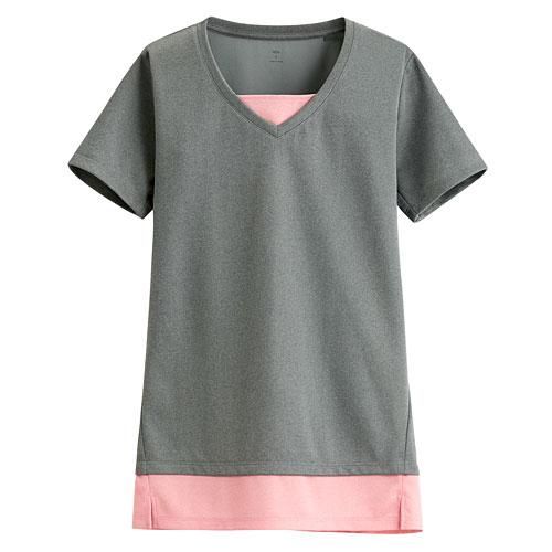 吸排拼色T恤-女
