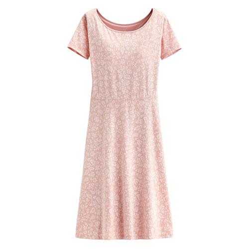 Hallmark Bra莫代爾印花短袖洋裝-女