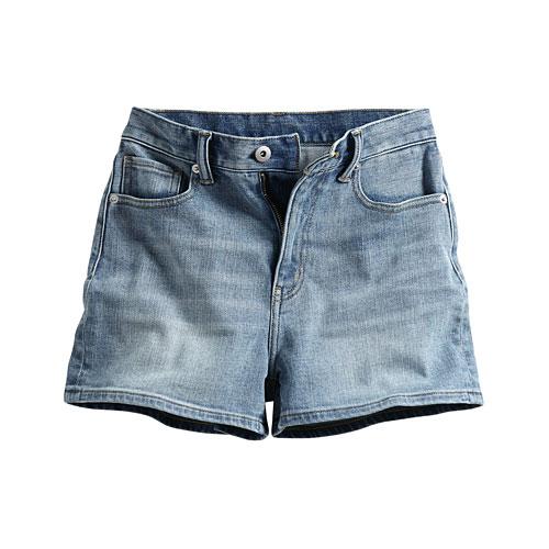高腰牛仔短褲-女