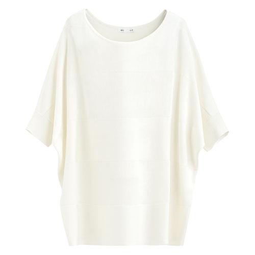 寬版短袖針織衫-女