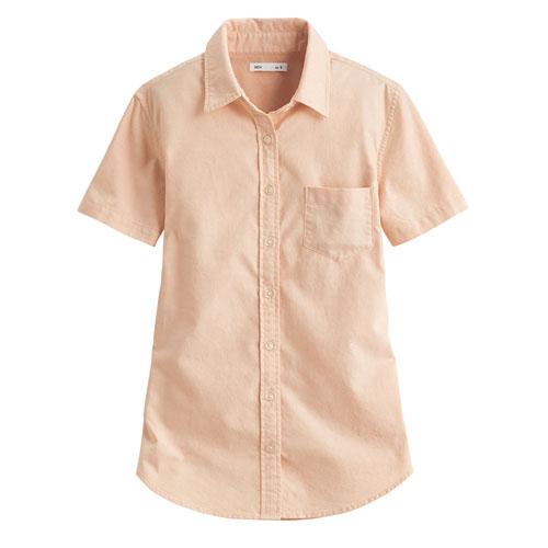 牛津短袖襯衫-女