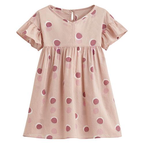 純棉印花洋裝-童