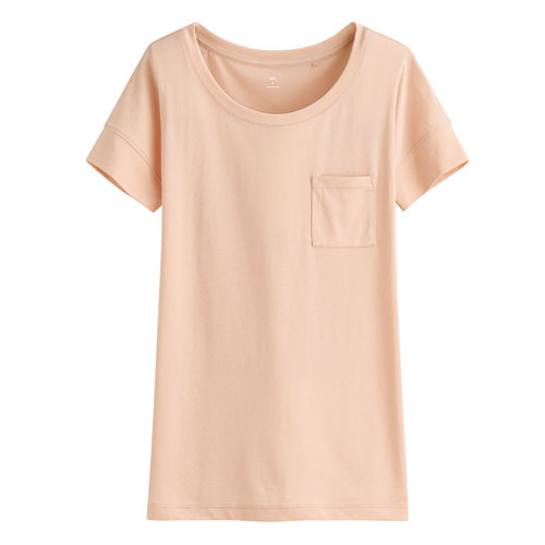輕柔口袋短袖衫-女
