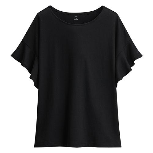 輕柔荷葉袖短袖衫-女