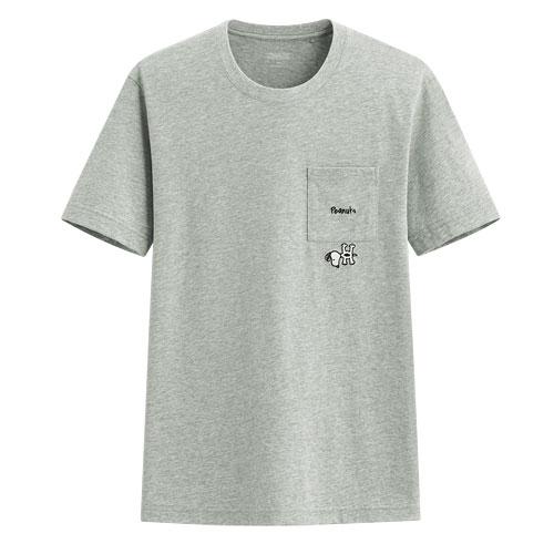 史努比口袋印花T恤-08-男