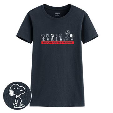 史努比印花T恤-15-女