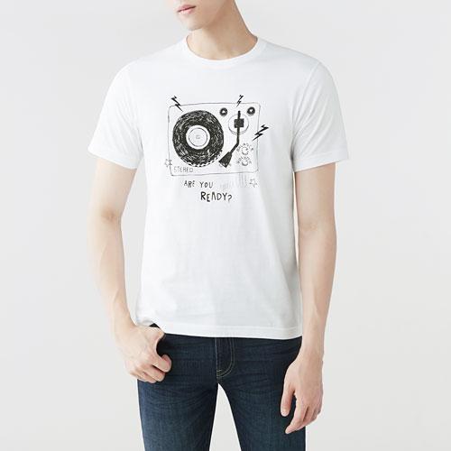 Hallmark印花T恤-01-男