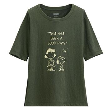 史努比竹節棉寬版T恤-21-女