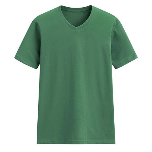 快乾棉V領T恤-男