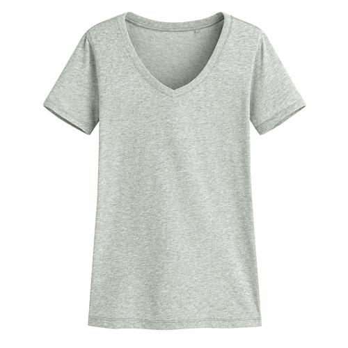 快乾棉V領T恤-女