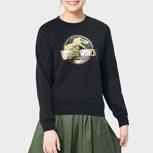 Jurassic World刷毛圓領衫-女