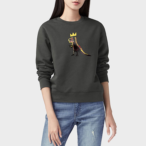 Jean-Michel Basquiat刷毛圓領衫-女