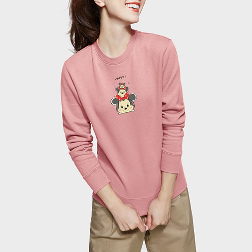 Tsum Tsum系列刷毛圓領衫-女