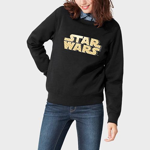 STAR WARS系列刷毛圓領衫-女