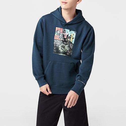 Jean-Michel Basquiat刷毛連帽衫-01-男