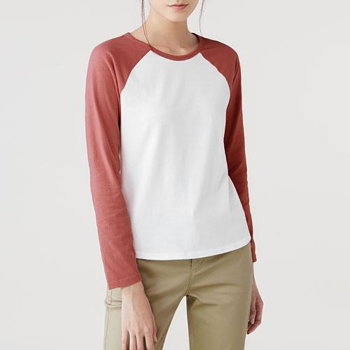純棉拉克蘭長袖T恤-女