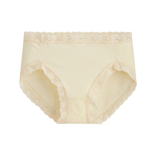 棉質蕾絲中腰內褲-女
