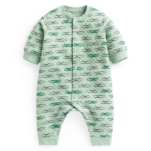 鋪棉動物印花連身衣-Baby