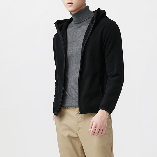 Fleece連帽外套-男