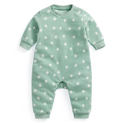 Fleece印花連身衣-Baby