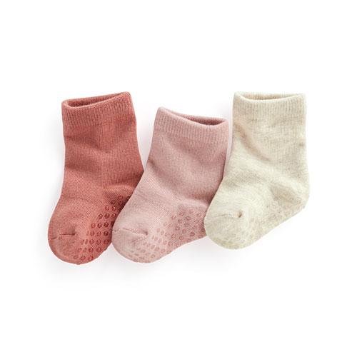 素色中筒襪(3入)-Baby