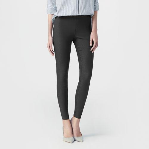 刷毛彈力顯瘦窄管褲-女