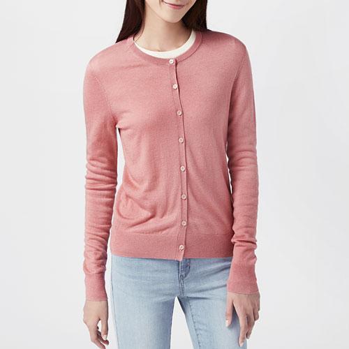 美麗諾羊毛混紡針織外套-女