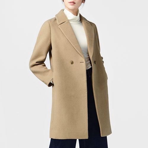 羊毛混紡大衣-女