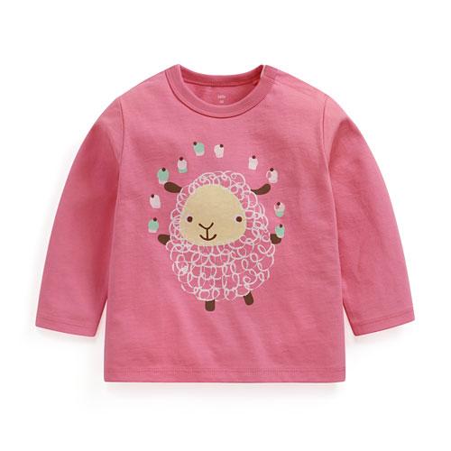 綿羊印花長袖T恤-Baby