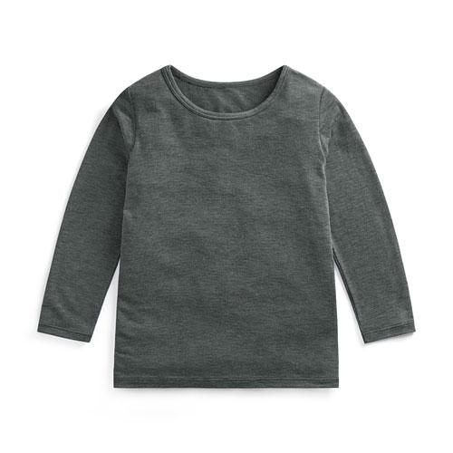 heatup 薄款圓領九分袖上衣-童