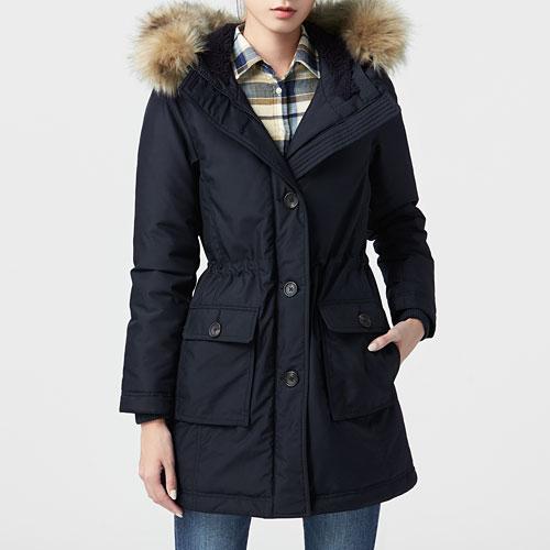 極暖羽絨長版外套-女