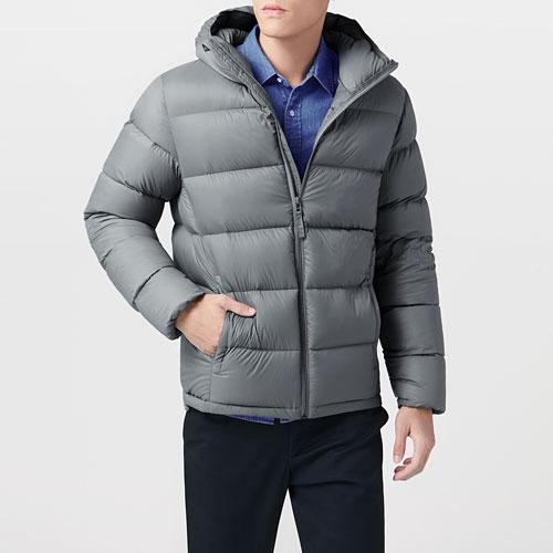 極暖羽絨連帽外套-男