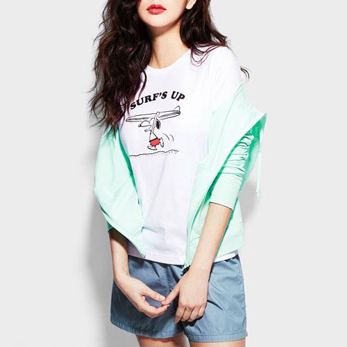 史努比印花T恤-02-女