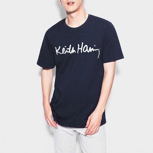 Keith Haring印花T恤-04-男