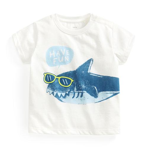 鯊魚印花T恤-Baby