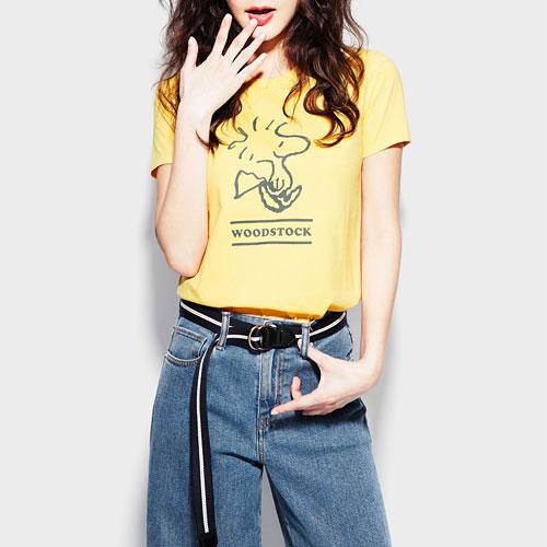 史努比印花T恤-08-女