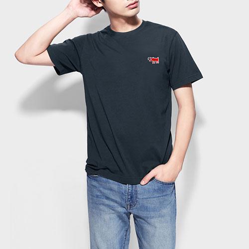 Keith Haring印花T恤-05-男
