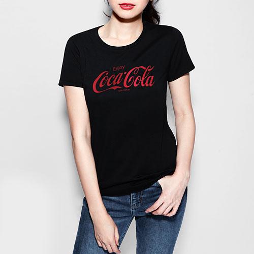 可口可樂印花T恤-02-女