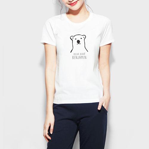 Polar Bear Benjamin印花T恤-02-女