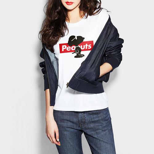史努比印花T恤-03-女