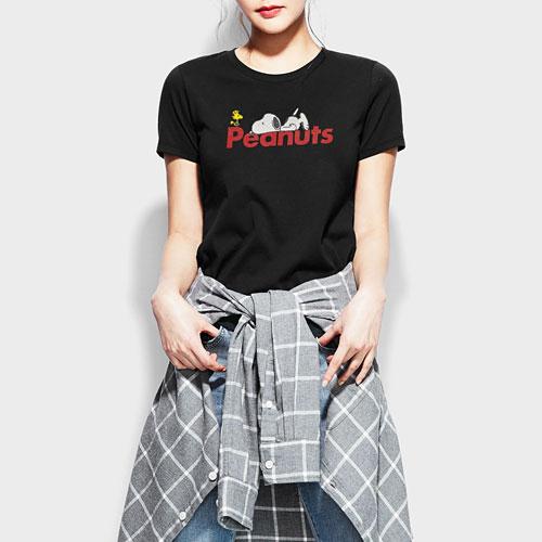 史努比印花T恤-04-女