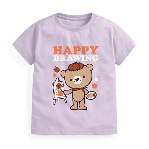 畫家熊印花T恤-童