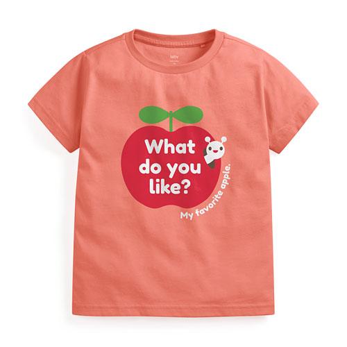 蘋果印花T恤-童