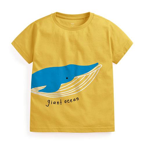 鯨魚印花T恤-童
