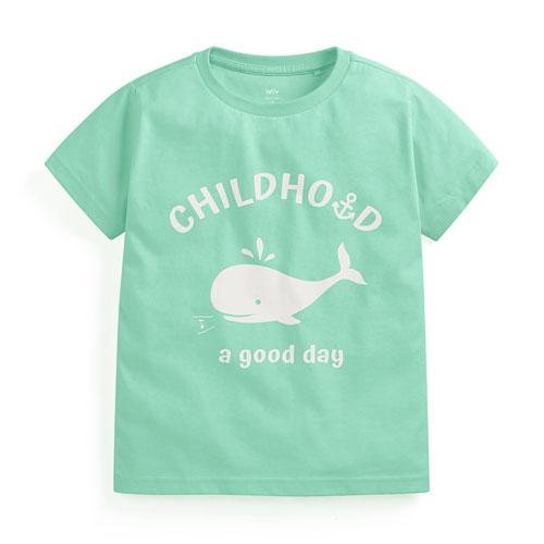 小鯨魚印花T恤-童