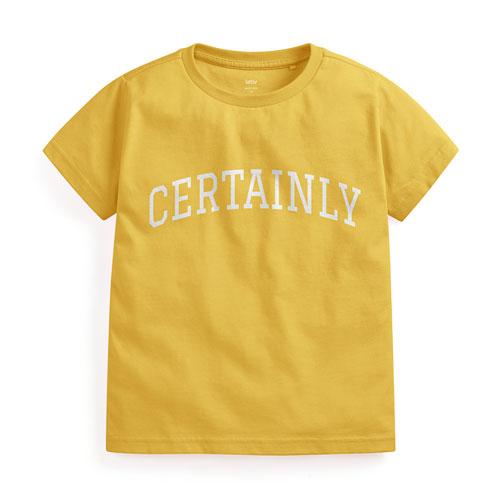 文字印花T恤-10-童