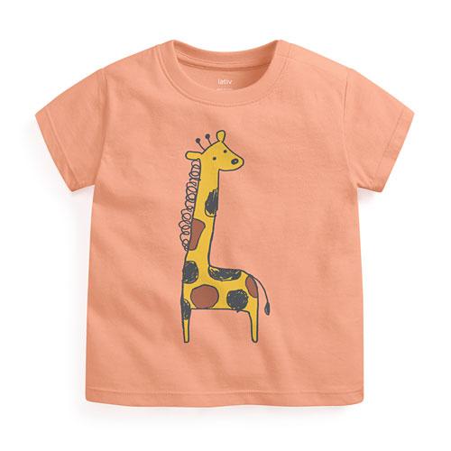 動物印花T恤-Baby