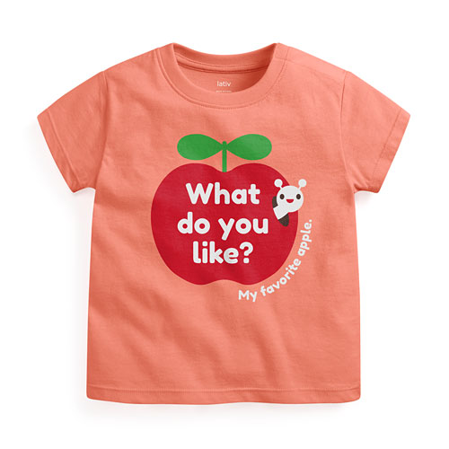 蘋果印花T恤-Baby